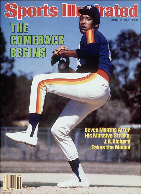 At 6-foot-8, 200 pounds, Richard unleashed an overpowering 100-mph heater and a filthy 93-mph slider with just enough wildness to keep hitters from digging in at the plate. He made his major league debut with the Astros in 1971 by tying the NL rookie record of 15 strikeouts and went on to win 20 games in 1976. Three years later he joined Nolan Ryan and Sandy Koufax as the only modern-era pitchers to strike out 300 batters in two consecutive seasons. (Curt Schilling and Randy Johnson have since joined the fraternity.) His career was cut short by a stroke in 1980.