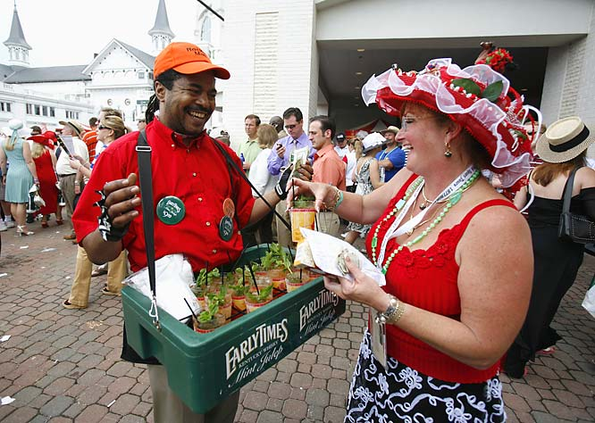 As always, Mint Juleps were the big drink at Churchill Downs during the Kentucky Derby.