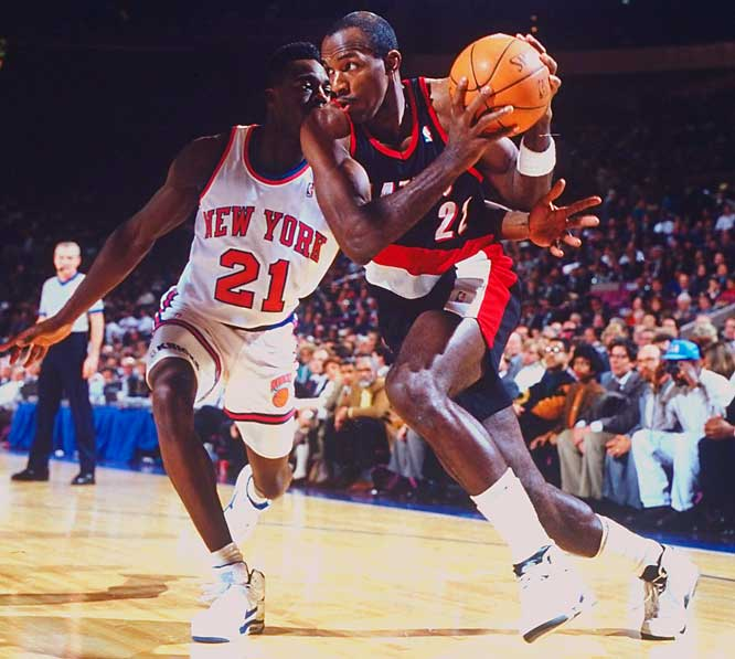 In the early 1990s, Drexler was considered by some to be the second-best player behind Michael Jordan. The Glide was so athletically gifted, he entered the NBA able to score at will just by driving to the basket, but when he added a reliable jump shot by the late 1980s, there was no stopping him. Though Drexler's Blazers fell short of a championship, a late-career trade to the Houston Rockets helped him get his ring in 1995.