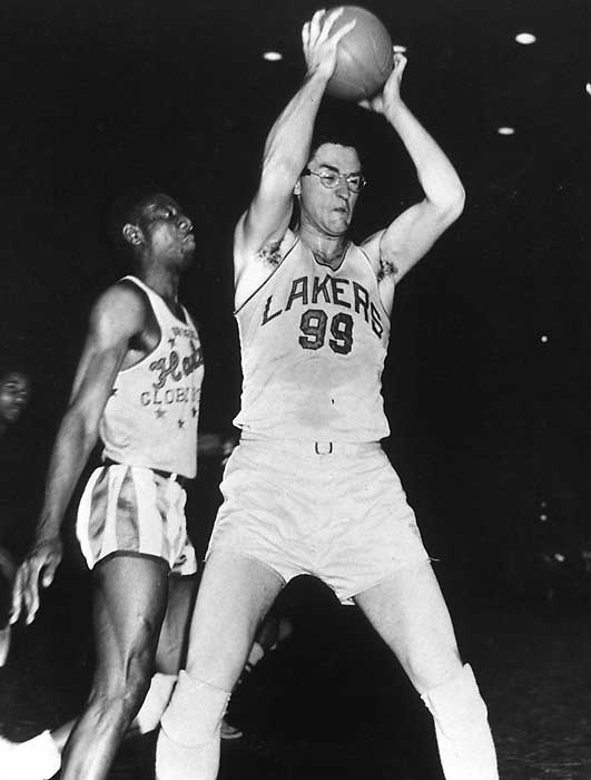 The game's first true superstar would have won three or four MVPs -- if only the award were invented earlier. The MVP was first awarded after the 1955-56 season, the last year of Mikan's extraordinary career. He led the Minneapolis Lakers to NBA championships in 1950, '52, '53 and '54, and was the centerpiece of the league's first dynasty. Mikan died in 2005, but his NBA legacy lives forever.