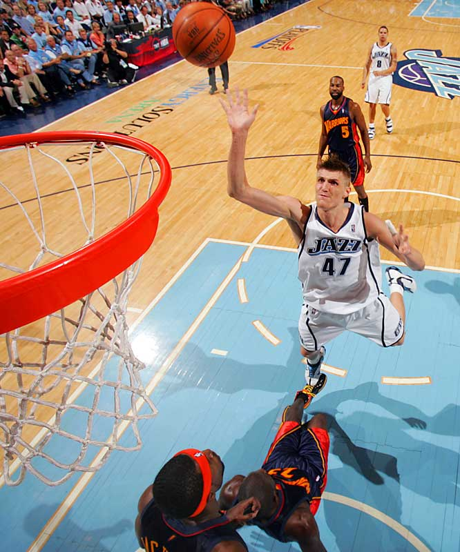 Andrei Kirilenko had 21 points, 15 rebounds and three steals for the Utah Jazz, helping to clinch their first trip to the Western Conference finals since 1998.