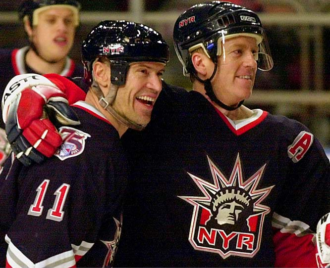 Upon the departure of Mark Messier to Vancouver before the 1997-98 season, Leetch became the Rangers' captain.