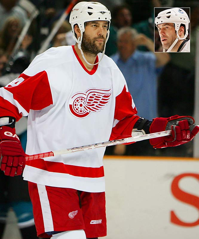 Detroit's Todd Bertuzzi is not known for his gentle style of play, so his facial foliage adds an additional degree of grungy menace.