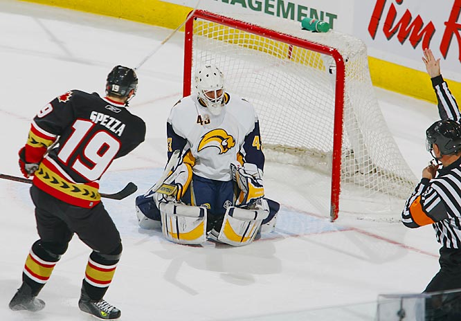 In a rematch of their fight-filled game two days earlier, Ottawa's Jason Spezza responded the way he knows best -- by scoring a shorthanded goal on a delayed penalty in the first period and on a power play  late in the game to win it for the Senators.