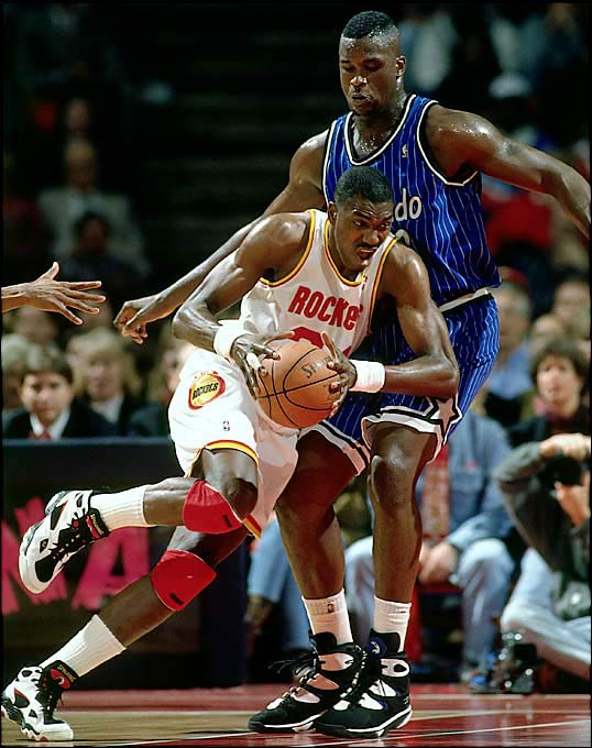 "After a 47-win regular season earned it the sixth seed, Houston went through Utah (60-22), Phoenix (59-22) and San Antonio (62-20) to reach the Finals. Then the Rockets, led by Hakeem Olajuwon, took out Shaquille O'Neal and Orlando (57-25) to win their second consecutive championship, prompting coach Rudy Tomjanovich to famously say, ""Don't ever underestimate the heart of a champion."""