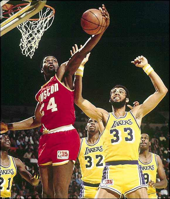 Though this first-round series was only a best-of-three affair, nobody gave the Rockets much of a chance to defeat the defending champion Lakers, who finished the season with 14 more wins than Houston (40-42). But Moses Malone (pictured), Calvin Murphy and Rudy Tomjanovich were able to contain Kareem Abdul-Jabbar and second-year star Magic Johnson as the Rockets won the deciding Game 3 89-86. Houston continued its surprise run all the way to the NBA Finals before losing to Larry Bird and the Boston Celtics.