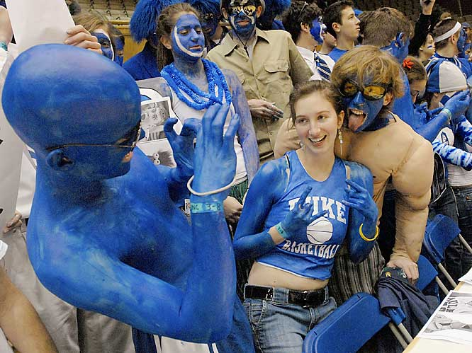 A member of Duke's student body poses for a picture.