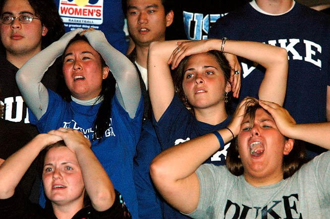 Not the best of times for fans of the Duke women's basketball team, as they endure a tough overtime loss to Maryland in the 2006 NCAA Championship.