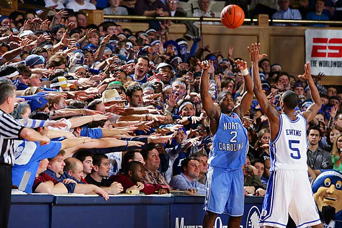 Like most opponents who enter Cameron Indoor Stadium, UNC's Raymond Felton had to deal with a contentious crowd.