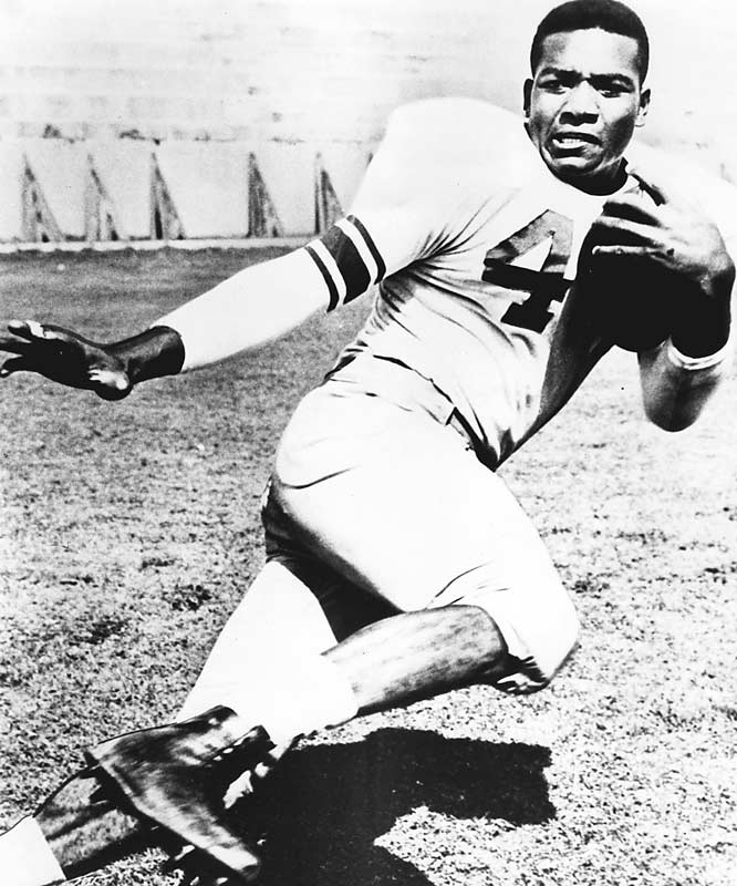 Before he became the greatest running back in the NFL, Brown was an All-American in football and lacrosse, a letterman in basketball and an occasional contributor to the track and field team at Syracuse. Brown -- along with fellow running backs Ernie Davis and Floyd Little and eight others -- make up the Legend of No. 44 (the uniform number they all wore).