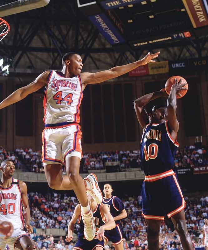 The top-pick in the 1990 NBA draft was a four-time All-American at Syracuse, Big East Rookie of the Year in 1987, Big East Player of the Year in 1990, National Player of the Year in 1990 and a Wooden Award, Eastman Award and USBAWA Trophy finalist. His 1,537 rebounds was an NCAA record.