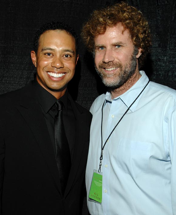 We hope Will Ferrell (seen here last week at Tiger Woods'  Tiger Jam charity concert) is sporting this look for an upcoming movie.