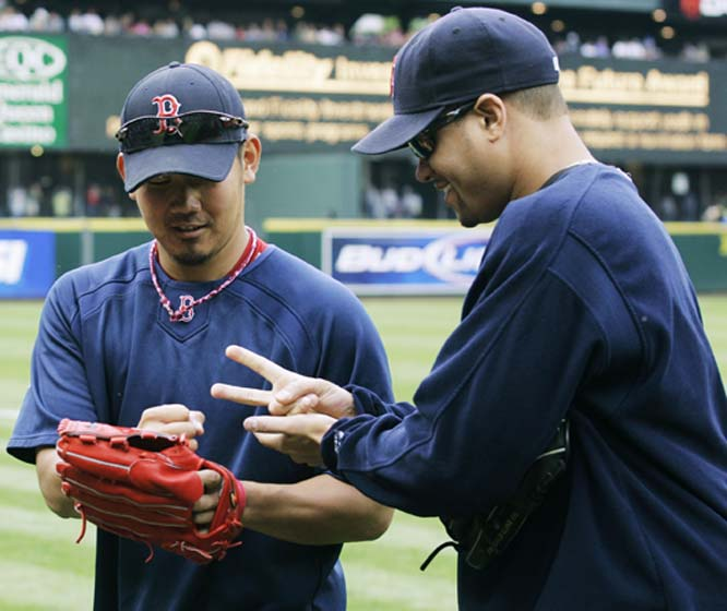 Is there a gyro trick that Daisuke Matsuzaka can use during Rock, Paper, Scissors?
