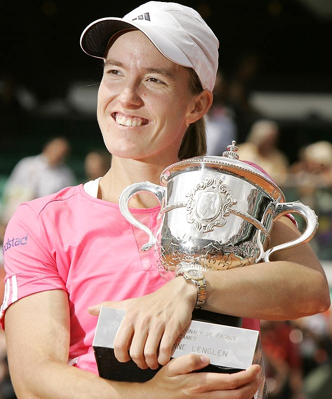 """It's surreal to win for the third time in a row,"" Henin said. ""I am struggling to take it in."""