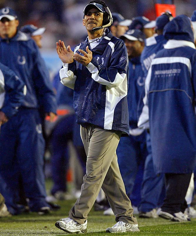 "Dungy's ""Cover 2"" defense, a zone in the secondary with complicated blitz schemes, is one of the toughest in football and his Colts used it to win Super Bowl XLI."