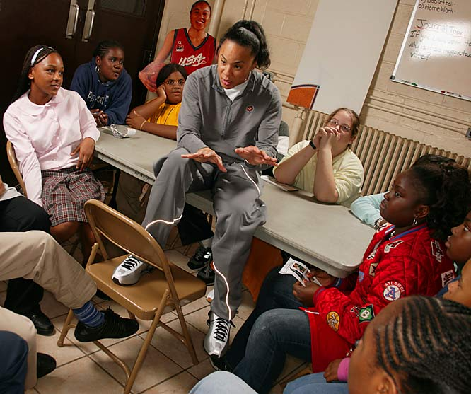 Finally retired after a successful career as a leader on the court, Staley is now building Temple's women's basketball program while writing a children's book and running an educational program for kids at a Philadelphia recreation center.
