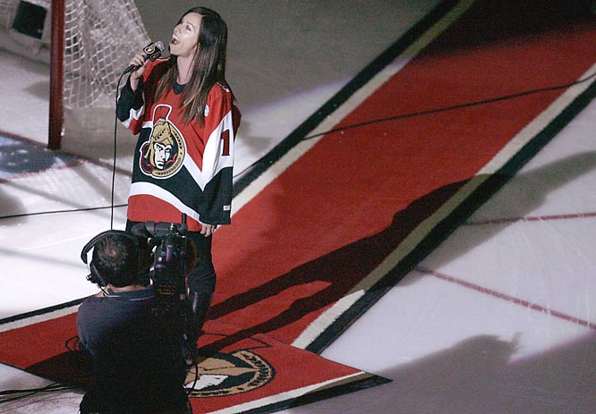 Isn't in Ironic that Alanis Morisette sang the Canadian and American national anthems before Game 4 of the Stanley Cup Finals and the Senators lost?