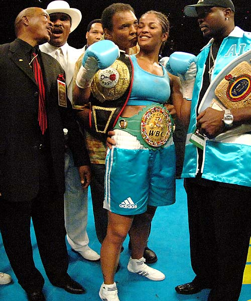 Laila's 2001 fight against Jackie Frazier-Lyde was dubbed Ali/Frazier IV, in honor of the three famous bouts between Laila's and Jackie's fathers, Muhammed and Joe.