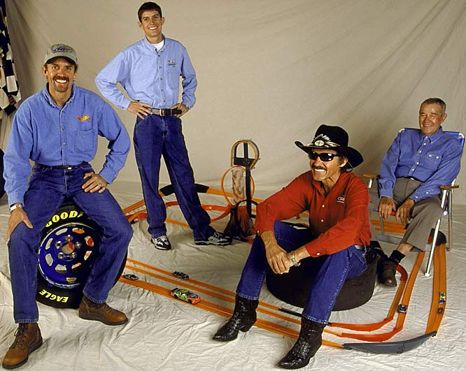 Between the four Pettys, Lee, Richard, Kyle and Adam amassed 263 victories in NASCAR. Great-grandfather Lee and his great grandson Adam passed away during the span of one month in 2000, Lee from natural causes and Adam in a tragic crash.