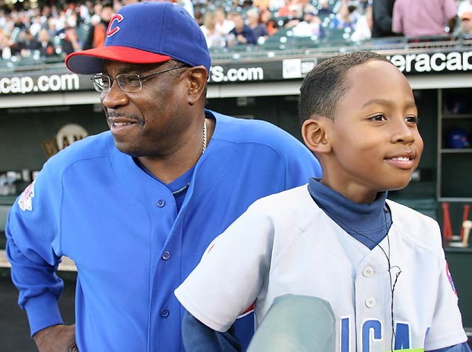 During his father's stints with the Giants and Cubs, Darren Baker was a regular, yet small presence in the clubhouse.