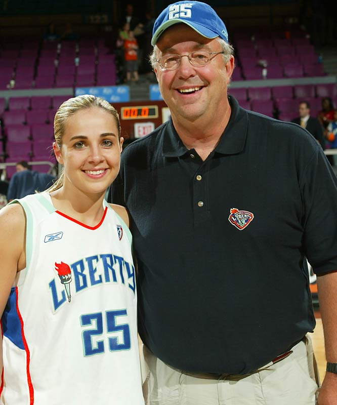 Becky Hammon grew up playing basketball against her father, Martin, in Rapid City, S.D.