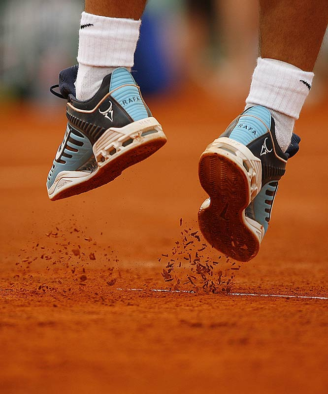 Nadal continued his dominance on clay, improving to 20-0 at Roland Garros and 33-0 in best-of-five-set matches on clay.