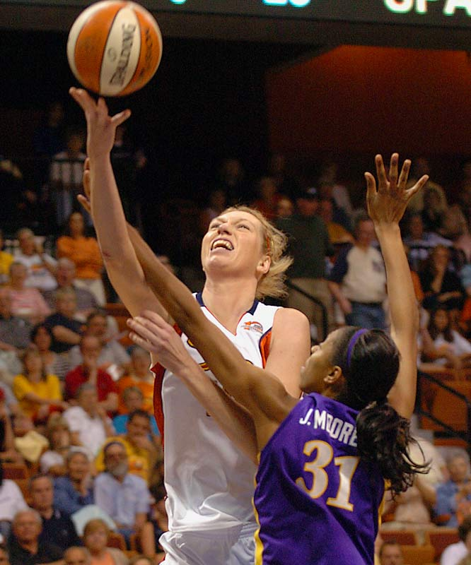 A gentle giant, Dydek is the WNBA's version of Shawn Bradley: a 7-foot-2 finesse player. Her career rebounding average (6.6) is lower than her height. In five years she's averaged double figures only once. She's highly skilled but maddeningly inconsistent.