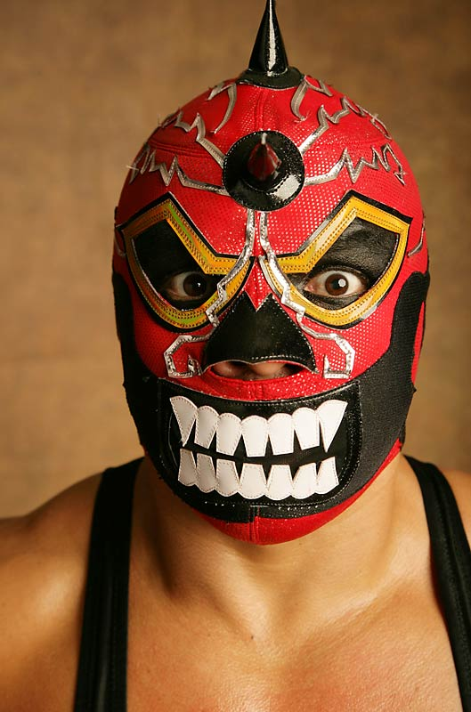 In Mexico, the World Council of Lucha Libre provides wrestlers for almost every taste, beginning with the rudos (bad) and the técnicos (clean). Then there are the women, such as India Sioux, who hails from a family of fighters; the exóticos, such asMáximo, who confounds rivals by flirting with them; and the miniestrellas (mini stars), such as the dimunitive Fire.