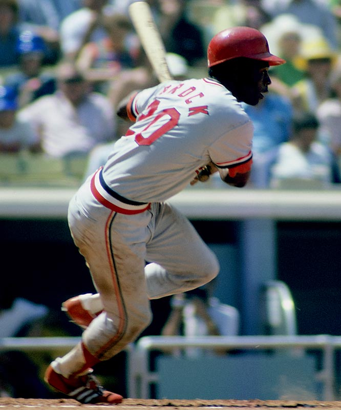 Lou Brock became the 14th member of the 3,000-hit club on Aug. 13, 1979, with a single off Chicago's Dennis Lamp at Busch Stadium. He was especially clutch in the postseason, posting a career .391 average in 21 World Series games.