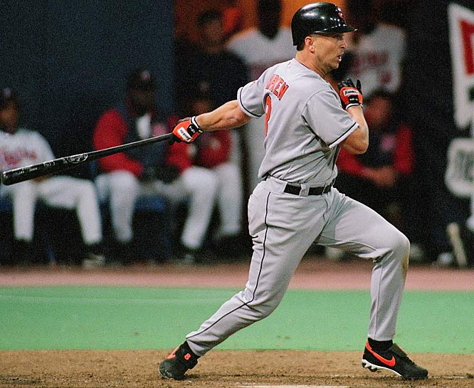 Cal Ripken Jr. became the 24th member of the 3,000-hit club on April 15, 2000, with a single off Minnesota's Hector Carrasco at the Metrodome. The Iron Man collected 2,832 of his hits during his 2,632 consecutive games played streak.