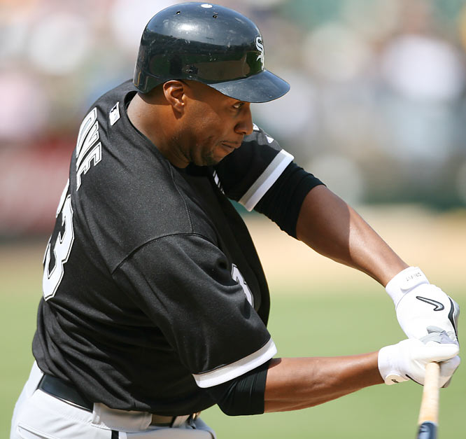 Dye has hit at least 20 home runs in seven seasons and driven in at least 100 runs in four seasons. The two-time All-Star was also the 2005 World Series MVP.