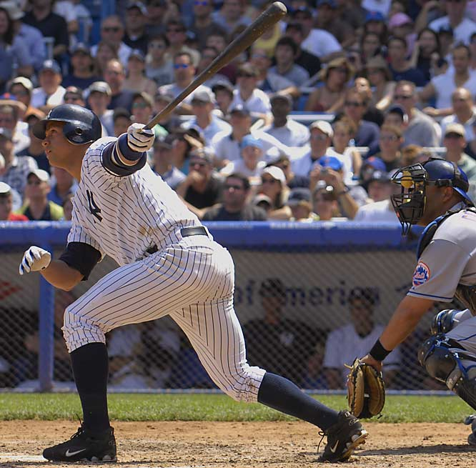 After starting the Subway series at Yankee Stadium 0-for-4, Alex Rodriguez hit a two-run homer against the Mets on both Saturday and Sunday.  The Yankees won their final two games against the Mets to finish the Subway Series 3-3 this season.