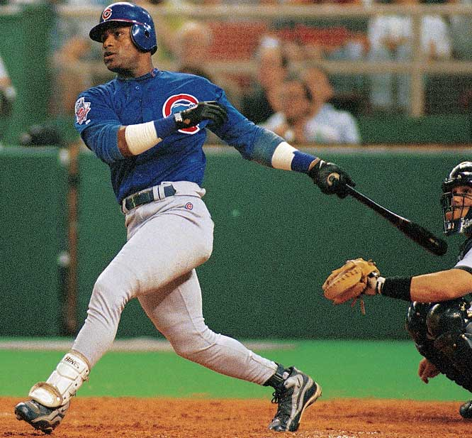 Sosa's final home run of the season left him at 66, four shy of record-holder Mark McGwire. Sosa's Cubs would move on to the playoffs, however, while Mac's Cardinals went home.
