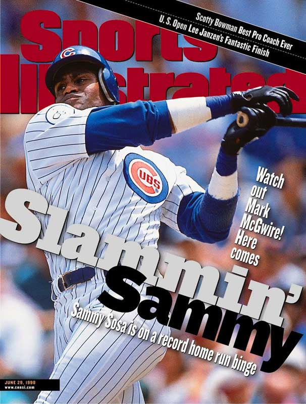 Sosa belted 20 home runs in June 1998 as he joined Mark McGwire in the assault on Roger Maris' single-season record.