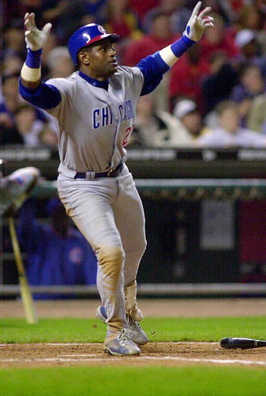 Sosa joined the 500 home run club on April 4, 2003, in a 10-9 loss at Cincinnati.