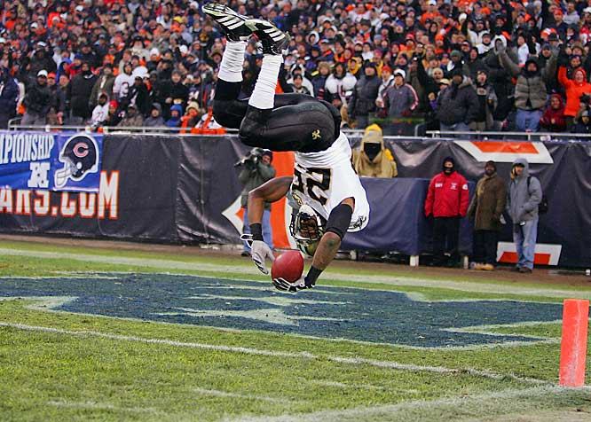 As exemplified when he ran away from Brian Urlacher and did a somersault into the end zone in the playoffs, Bush brings a rare flare to the NFL when he sashays his way thru the line and into the secondary.