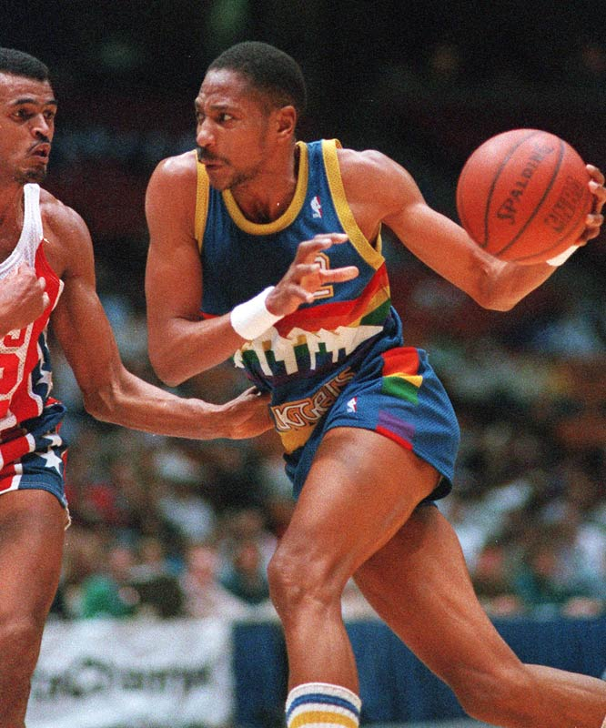 After two forgettable seasons in Milwaukee and two more decent ones in Indiana, English's career took off with a 1980 trade to Denver. The smooth forward averaged at least 23 points in nine consecutive seasons and won the scoring title in 1982-83.