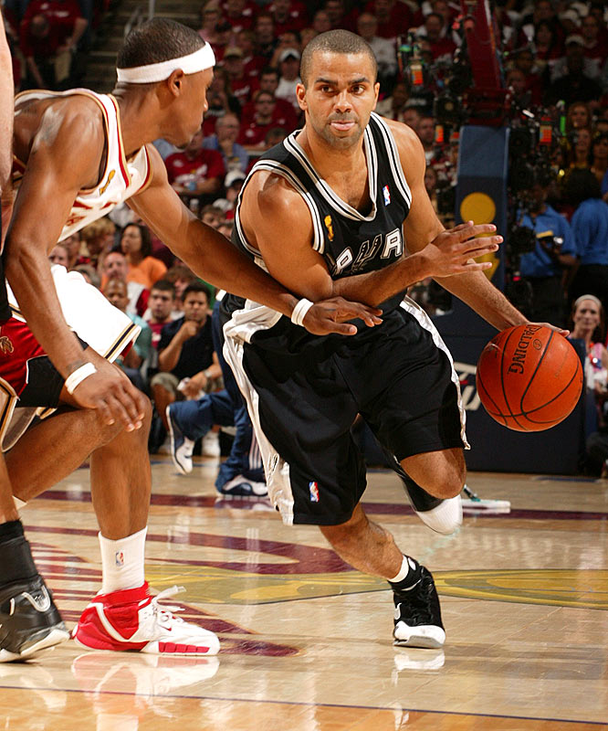 Tony Parker and the Spurs needed only 20 playoff games (16-4 record) to claim the franchise's fourth title in nine years. Parker, who averaged nearly 25 points and shot 57 percent in the Finals, would edge teammate Tim Duncan for MVP honors.