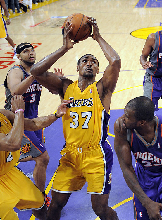 Ron Artest went from goat to hero in Game 5. After Phoenix's Jason Richardson hit a three with 3.5 seconds left to tie the game at 101, Kobe Bryant attempted -- and air-balled -- a three on the other end. But as soon as Bryant's shot got off, Artest positioned himself down low to grab the ball and kiss it off the glass before time expired. His game-winning put-back gave the Lakers a 3-2 lead in the series.   Here's a look back at some of the league's greatest Game 5s in the playoffs.