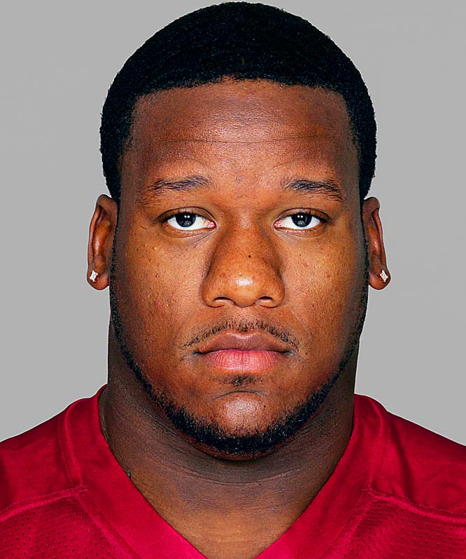 The Falcons defensive tackle was arrested on one felony count of animal abuse after his girlfriend transported an injured dog to an animal emergency center. The animal was dead upon arrival. Babineaux denied responsibility.