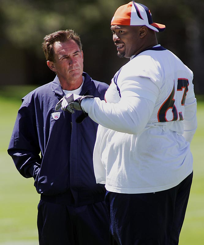 ''We all know history and you can see he has great quickness for a guy that size. Any time you have that quickness and that size, usually good things happen.''<br>-- <i>Broncos coach Mike Shanahan</i>