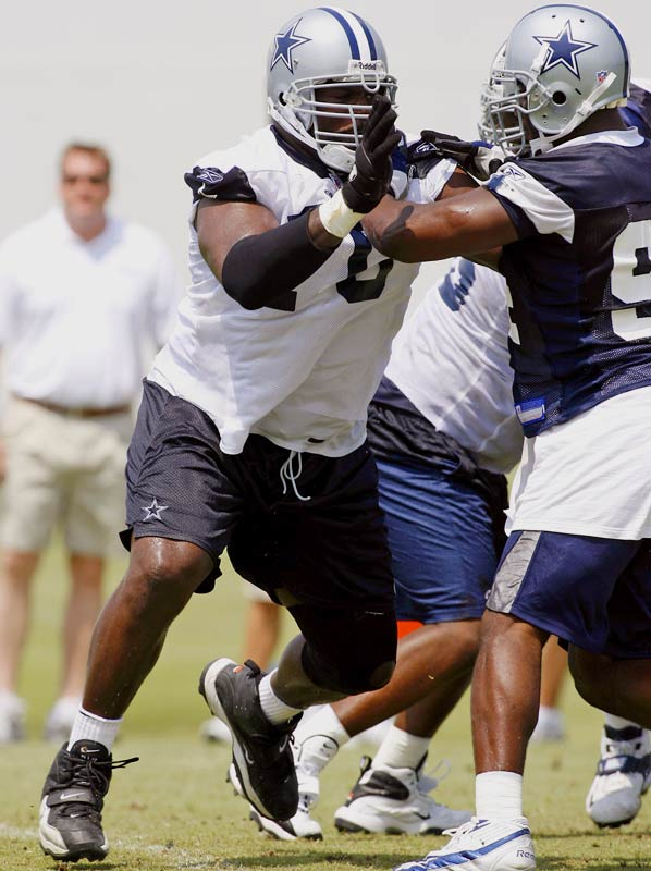 ''When we signed him, we knew he could start at different positions. He has a lot of versatility.''<br>-- <i>Cowboys coach Wade Phillips</i>