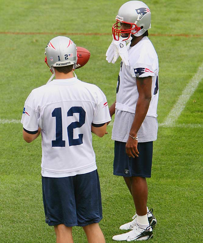 ''I've been excited to have him around. He's worked extremely hard, he's in the weight room every day, he's been here working out, he's taken a trip with us to New Orleans, he's been at the golf tournament.''<br>-- <i>Patriots QB Tom Brady</i>