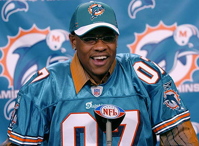 Miami passed over Brady Quinn, who had unexpectedly tumbled down in the draft, to take Ted Ginn Jr. out of Ohio State. Dolphins fans slammed the pick and continue to do so now that veteran quarterback Daunte Culpepper appears on his way out of town in favor of 36-year-old Trent Green.