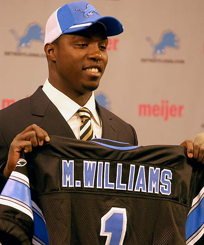 Matt Millen surprised everyone when he selected a wideout with his third straight top-10 pick, taking the USC product who had sat out a season after failing in his attempt to challenge the NFL age limit. Williams was fined repeatedly during his first season with the Lions and has since been dealt to Oakland for a fourth-round pick.