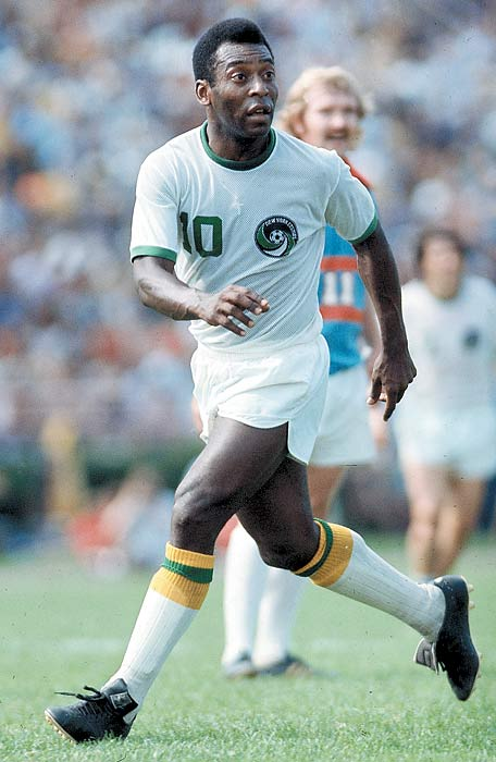 Edson Arantes do Nascimento, better known as the soccer genius Pele, is the most famous footballer of all time. He played on three World Cup-winning teams with Brazil (1958, 1962, 1970) and helped launch soccer in America when he came out of retirement to play for the Cosmos in 1975. <br><br>Runner-up: Diego Maradona.<br><br>Worthy of consideration: Walt Frazier, Guy Lafleur, Zinedine Zidane.