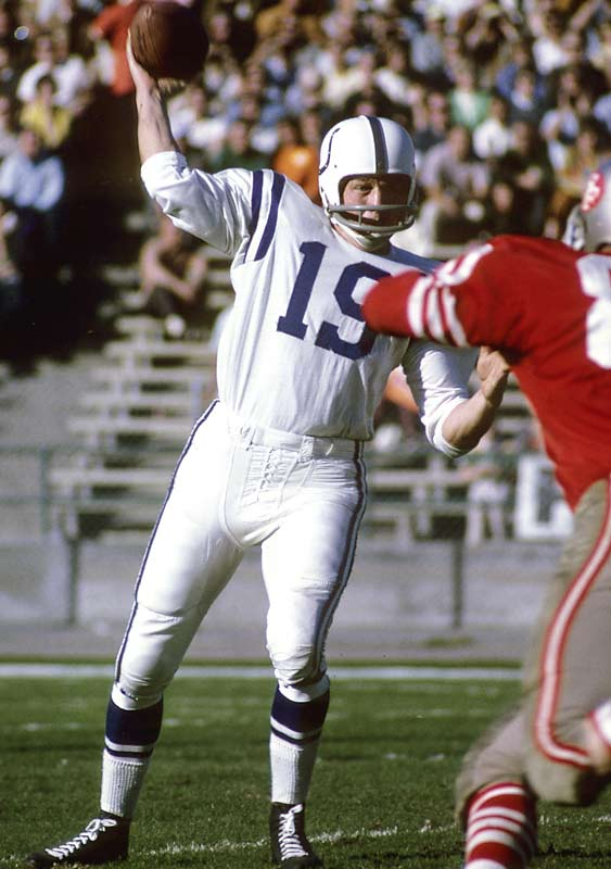 Unitas was the first quarterback to throw for 40,000 yards and was the quarterback on the NFL's All-Time team in 2000 as voted by the Pro Football Hall of Fame voters. <br><br>Runner-up: Steve Yzerman. <br><br> Worthy of consideration: Lance Alworth, Bob Feller, Joe Sakic.