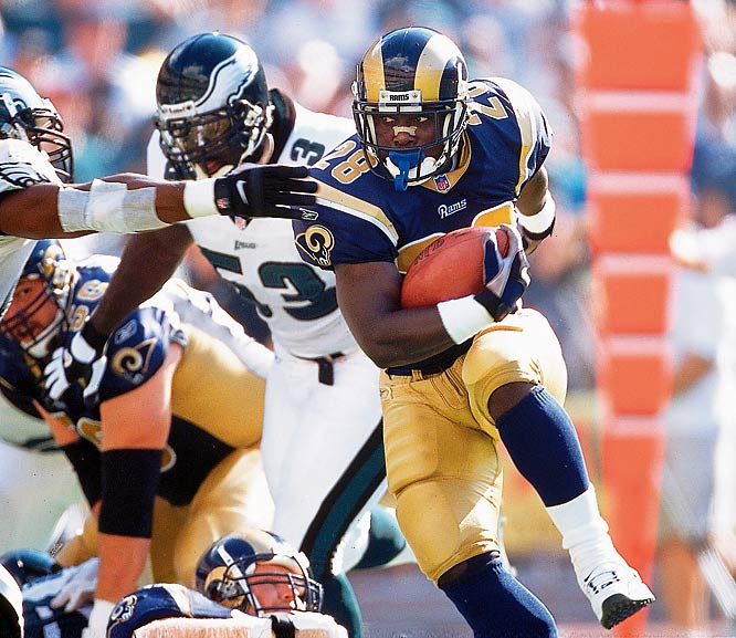 "A key cog of the Rams' ""Greatest Show On Turf,"" Faulk retired from football earlier this year after a career that produced 19,154 combined yards from scrimmage. His 6,875 yards receiving are the most by any running back.<br><br>Runner-up: Darrell Green.<br><br> Worthy of consideration: Bert Blyleven."
