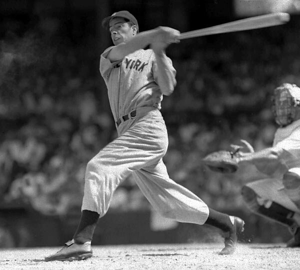 The 56-game hitting streak. Three-time MVP. Spouse of Marilyn Monroe. DiMaggio played his entire career (1936-1951) for the Yankees and hit .325 with 361 home runs.<br><br>Runner-up: Johnny Bench.<br><br>Worthy of consideration: George Brett, Hank Greenberg, Paul Hornung, Donovan McNabb, Albert Pujols, Brooks Robinson.