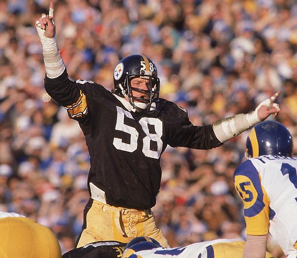 A vicious tackler and two-time Defensive Player of the Year for the Steelers, Lambert played in nine straight Pro Bowls (1976-84).<br><br>Runner-up: Derrick Thomas.
